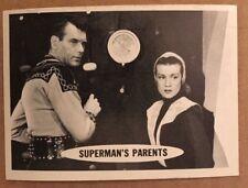 SUPERMAN 1966 TOPPS FIGURINA 3 EX CONDIZIONI DC COMICS LIBRO Superman's genitori