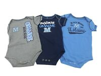 Maine Black Bears Official NCAA Baby Infant Size 3 Piece Creeper Combo Set New