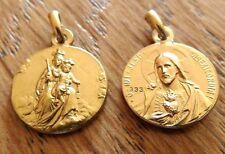 Skapuliermedaille Gold, Anhänger, Madonna Berge Karmel, Carmel Confraternita