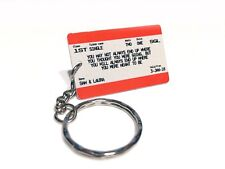 Mini Personalised Keyring Train Ticket Keychain Gift Idea Valentine's Day Quote