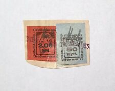 2 Municipal Revenue Stamps Ansbach Germany