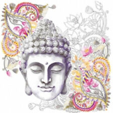4 x paper napkins for decoupage, crafts, scrapbooks - Buddha Head Stone