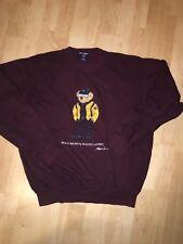 Vintage 90's Polo bear Sport Ralph Lauren sweatshirt crew Burgundy bootleg