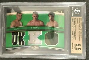 GEM MINT 2010 UFC K/O Triple Thread Relics Emerald HARDY/BISPING/HATHAWAY/18