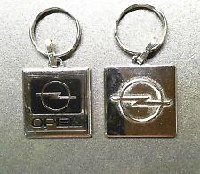 Opel Logo Keyring Schlüsselanhänger Blitz 2seitig emailliert 3D 90er 33mm silber