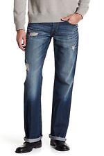 True Religion Mens Loud Revolve Blue Boot Cut Flap Jeans  Size 31 82619