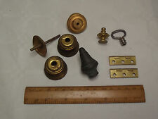 Mixed Lot Clock Case Parts Knob Finial Hinges Carriage Bracket Mantle Spares M1