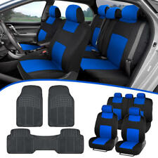 Car SUV Seat Covers for Auto & All Weather Rubber Floor Mats - Full Interior Set