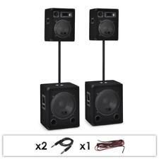 PROFI DJ PA LAUTSPRECHER ANLAGE BOXEN SUBWOOFER STÄNDER SET  2.2 PARTY SYSTEM