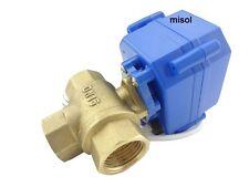 L port, 3 way motorized ball valve DN15(reduce port)