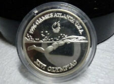 1996 Romania Large Silver Proof  100 Lei  Olympic Swimming