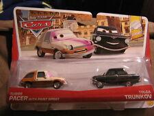 DISNEY  CARS LEMONS SERIES TUBBS PACER W/ PAINT SPRAY & TOLGA TRUNKOV 2 pack
