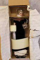 Ashton Drake Diana Princess of Wales Porcelain Doll #96001 Blue Velvet Gown