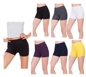 Womens Plain Stretchy Fitness Yoga Club Wear Dance Mini Shorts Hot Pants