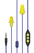 Plugfones Guardian Plus Earplug Headphones Blue Yellow