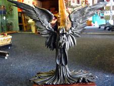 ANGEL OF DEATH REAPER STATUE Figure ORNAMENT Grim GOTHIC Horror Skulls SKELETONS