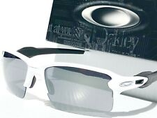 NEW* Oakley FLAK JACKET 2.0 WHITE POLARIZED Black Iridium Lens Sunglass oo9188