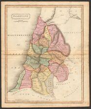 1815 ca ANTIQUE MAP - HAND COLOURED - PALESTINE