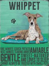 WHIPPET DOG PUPPY BREED PET ANIMAL LOVER WALL DECOR Vintage Retro Metal Sign