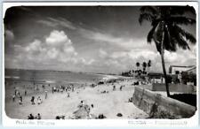 RPPC  OLINDA, PERNAMBUCO  Brazil   Beach PRAIA dos MILAGRES   Postcard