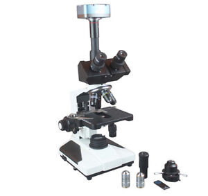 Professional Qualityl Trinocular Research Phase Contrast Microscope w USB Camera