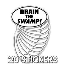 Pro Trump - Conservative - Drain the Swamp Ovals - Sticker Decal 20 Pack D&