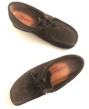 Clarks Originals Wallabees Brown Chukka Ankle Boots Womens 10M Suede Shoes