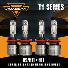 4x AUXBEAM T1 SERIES H11 H9 H8 LED Headlight & Canbus Decoder Error Free Bright