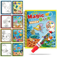 Water Color Drawing Book Reusable Doodle & Magic Pen Kids Early Educational Toy