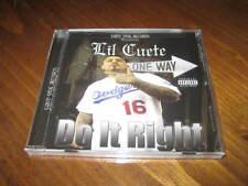 Chicano Rap CD Lil Cuete - Do it Right - Fingazz Kozme Clint G - West Coast