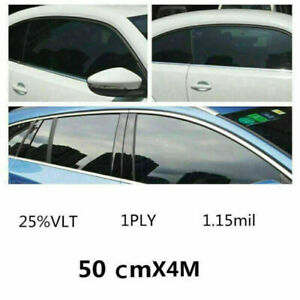 25% VLT Black Car Home Glass Window TINT Film and Shade Vinyl Roll 50cmx400cm