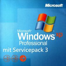 WINDOWS XP PROFESSIONAL MIT SP3 - DEUTSCHE, UNREGISTRIERTE VOLLVERSION !