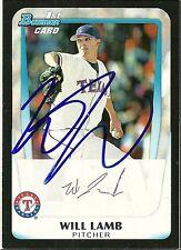 2011 Bowman WILL LAMB Signed Card auto WHITE SOX autograph RC NEWPORT NEWS, VA