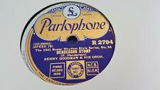 BENNY GOODMAN HENDERSON STOMP & NOBODY PARLOPHONE R2794