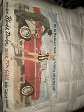 Original Advertising Sign Vintage Pinup Girl Banner