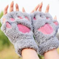 1 Paire Femmes Gants De Paume Gloves Mitaine En Forme De Chat Pattes Humour