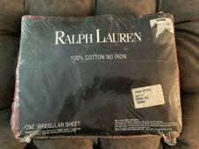 Ralph Lauren 100% cotton queen flat sheet Damask Red New in package sealed Irreg