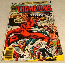 MARVEL COMICS THE CHAMPIONS # 7 VF- 1975 UK PRICE VARIANT