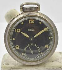 Ben large Pocket watch Running Well Vintage Westclox Rare Black Dial Pocket