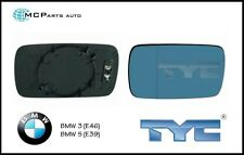 BMW 3 / 5 SERIES E46 E39 DIRECT WING MIRROR GLASS BLUE HEATED RIGHT OR LEFT