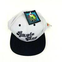 Bugle Boy Mens Hat Black Gray One Size Adjustable Snapback Polyester Blend