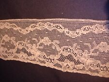 """Antique Pale Pink Lace Trim 3"""" x 1 yard Unused More Available Good For Doll"""
