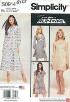 Simplicity 8125 Misses' Dress with Bodice Variations   Sewing Pattern
