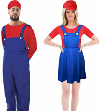 Adults Super Mario Fancy Dress Party Costume Unisex Super Plumber Brother Outfit