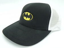 BATMAN FASHION SNAPBACK MESH TRUCKER 2-TONE BLACK/WHITE HAT CAP NEW!