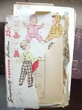 Sewing Pattern 1950 Girls Boys Winter Wear Outdoor Pant Coat Hat Simplicity 4417