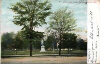 1907 St Clair Park Removed Statue Indianapolis Indiana Postcard BG