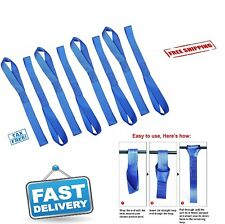 8 Pcs Soft Loop Tie Down Straps 3600lbs Heavy Duty Safe Luggage Ratchet Car New