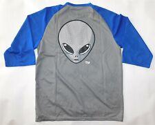 Vintage LAS VEGAS 51s Giant Alien Head Logo Aviators MiLB Raglan Jersey Shirt XL