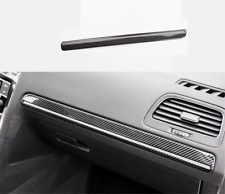 Real Carbon Fiber Dashboard Decor Frame Trim Fit For VW Golf MK7 MK7.5 2014-2019